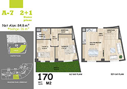 A Blok Daire Planı - A7