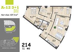 A Blok Daire Planı - A12