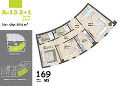 A Blok Daire Planı - A13