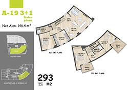A Blok Daire Planı - A19