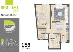 B Blok Daire Planı - B3
