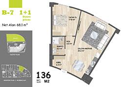 B Blok Daire Planı - B7