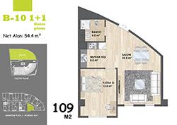 B Blok Daire Planı - B10