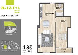 B Blok Daire Planı - B13
