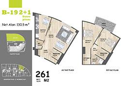 B Blok Daire Planı - B19