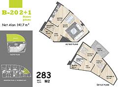 B Blok Daire Planı - B20