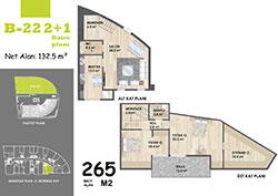 B Blok Daire Planı - B22
