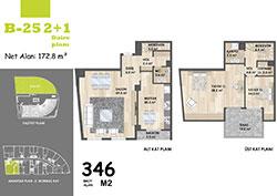 B Blok Daire Planı - B25